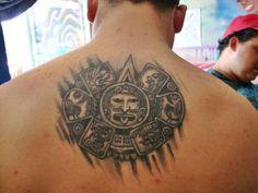 tatuaje del centro de calendario maya https://www.facebook.com/TattooTempo82