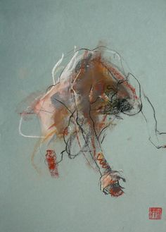 Linear Rhythm by Caroline Deane - ArtStack - art online Gesture Drawing, Life Drawing, Drawing Sketches, Art Drawings, Contour Drawings, Drawing Faces, Drawing Tips, Drawing Hair, Drawing Drawing