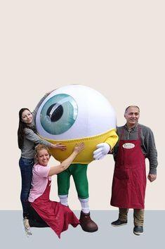 MASKOT | Creature Moving Eyes, Glossy Eyes, Personality Profile, Laminated Fabric, Mascot Design, Resin Casting, Character Costumes, Pink Tone, Mascot Costumes