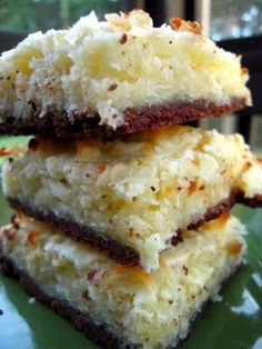 Plain Chicken: Black-Bottom Coconut Bars not all ingredients are Paleo but easily substituted for almond flour and honey. Brownie Desserts, Just Desserts, Dessert Recipes, Bar Recipes, Diabetic Recipes, Recipies, Coconut Bars, Coconut Recipes, Coconut Flour