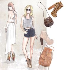 artwork by Lena Ker: my trendy girls