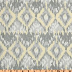 "1 Yard ""Ikat"" in Yellow by Dear Stella, Palladium Collection, Cotton Canvas, Home Dec Fabric"