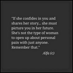 If she confides in y