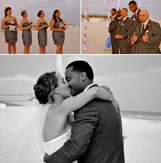 Beach wedding in Pensacola, Florida || The Pink Bride www.thepinkbride.com