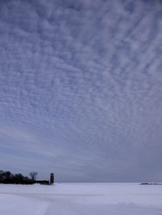 Minnesota sky and snow- you can see for miles and miles in any direction, and it all looks the same!  ;-)