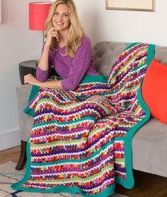 Butterfly Throw Free Crochet Pattern in Red Heart Yarn