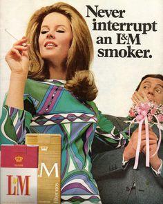 L cigarettes vintage ads, 1968