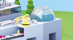 An isometric 3D model created with C4D R15 for Bürosit 2015 Magazine Ads. Please Enjoy