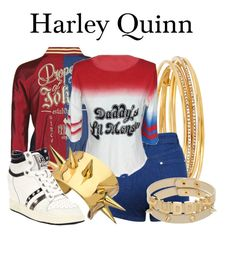 Harley Quinn by megan-vanwinkle on Polyvore featuring polyvore, fashion, style, COS, Miss Selfridge, Ash, Kate Spade, Charles Albert and clothing