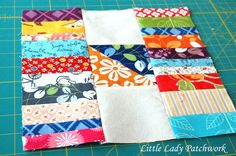 Little Lady Patchwork: BLOGGER'S BLOCK OF THE MONTH {STACKS & STACKS QUILT BLOCK} blocks-- strip  3.5 x 9.5  sq. 3.5