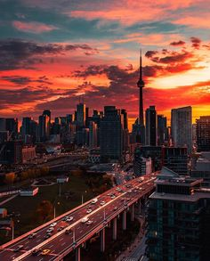 Toronto - Sunrise Over The Gardiner Expressway Canada Toronto, Toronto City, Toronto Travel, Canada Canada, Whistler Canada, Toronto Photography, Nature Photography, Paris Photography, Travel Photography