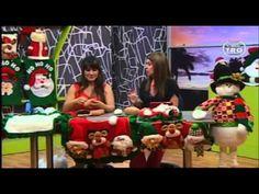 Hecho con Estilo 28 de Agosto Manualidades Navideñas Felt Ornaments, Christmas Crafts, Projects To Try, Santa, Dolls, Youtube, Diy, Handmade Christmas Decorations, Christmas Decor