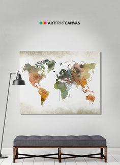 23 Best World Map Canvas images