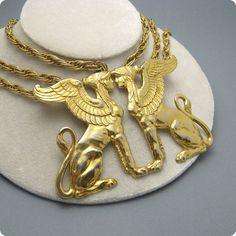 Massive Pauline Rader Egyptian Necklace by PurpleDaisyJewelry, $185.00