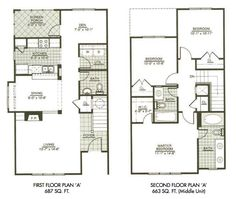 find this pin and more on tt modern town house two story house plans - 2 Storey House Plans