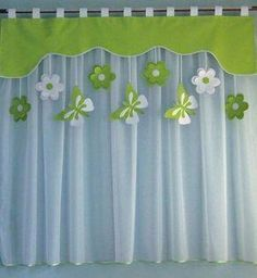Living Room Decor Curtains, Kitchen Window Curtains, Home Curtains, Diy Crafts Hacks, Diy Home Crafts, Diy Home Decor, Window Curtain Designs, Curtain Patterns, Bed Cover Design