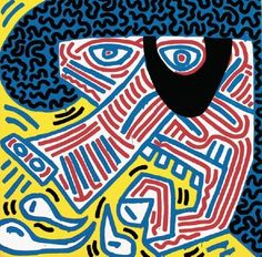 Keith Haring - Sneeze . 1984
