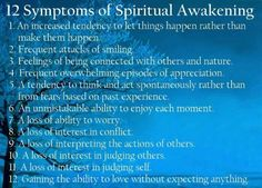 12 symptoms of spiritual awakening via wordsonimages #Illustration