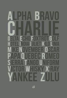 Apha-Bravo-Charlie Printable (free & different color options)