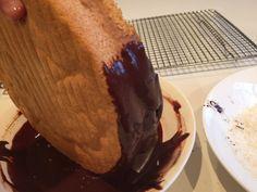 Chocolate Jam-n-Cream Lamington Cake - Cakeophilia Lamington Cake Recipe, Big Chocolate, Sponge Cake, Cake Recipes, Cooking Recipes, Pudding, Pie, Cream, Desserts