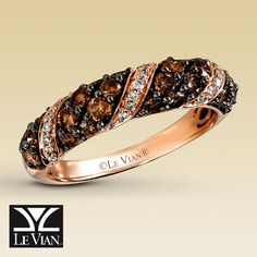 """of all the rings i've seen, i think this is my favorite for a """"dressy"""" occasion. i love the chocolate diamonds set in """"strawberry gold"""" (whatever that is)."""