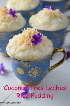 Coconut Tres Leches Rice Pudding creamy rice pudding made using three kinds of milk! So easy