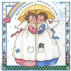 Sandi Gore Evans - rain or rainbow...all weather friends