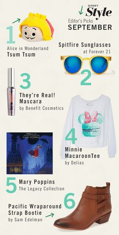 Here's the scoop on the Disney and fashion things we're digging this month!