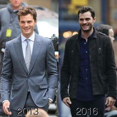 Jamie Dornan as Christian Grey...Now and then! #JamieDornan #FSD #FSF #Darker…