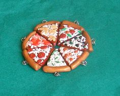 Best Friends Group Pizza Necklaces  BFF Forever by Cherrydot, $60.00