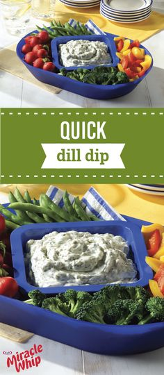 Quick Dill Dip – Gather up your favorite veggies or crackers to dip into this delicious Healthy Living dish! Using just five simple ingredients, this appetizer recipe couldn't be easier to put together for your summer party.