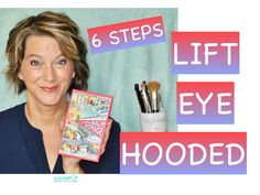 Help your hooded eyes appear lifted using these six steps.  My lids droop over my eyelashes, but this lifted look tricks the mirror's eye to see a higher crease.