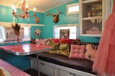 Retro camper trailer interior