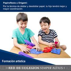 Algunas de las ventajas que tienen la Papiroflexia u Origami en el desarrollo de la creatividad en los niños: #Papiroflexia #FormaciónArtística #SemperAltius