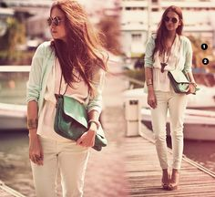 green and mint #outfit