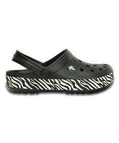 dcfffe33bf7c99 Crocs Black   White Animal Print Crocband Clog - Unisex