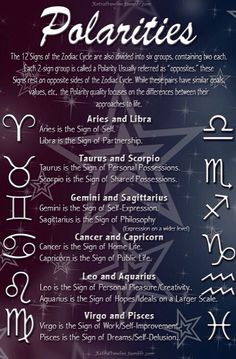 Zodiac polarities