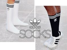 length socks with Adidas logo on it available in two colors - black and white. Found in TSR Category 'Sims 4 Female Everyday'Calf length socks with Adidas logo on it available in two colors - black and white. Found in TSR Category 'Sims 4 Female Everyday' The Sims 4 Pc, Sims 4 Mm, Sims 4 Mods Clothes, Sims 4 Clothing, Sims 4 Game Mods, Sims Mods, The Sims 4 Bebes, Muebles Sims 4 Cc, Sims 4 Gameplay
