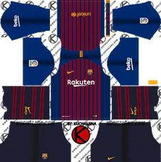 Dream League Soccer Kits Barcelona 2018-19 Kit 512x512 URL  3ccf6910508