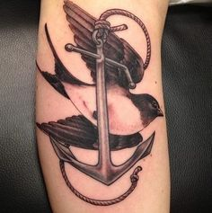 a swallow with an.anchor tattoo - Google Search