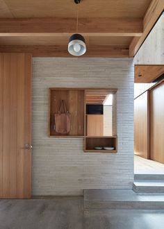Image 8 of 22 from gallery of Brick House / Andrew Burges Architects. Photograph by Peter Bennetts Bronte House, Casa Milano, World Architecture Festival, Brick And Stone, Entry Foyer, Fireplace Design, House And Home Magazine, Contemporary Bedroom, Minimalist Decor