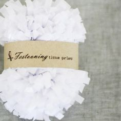 4 Yds of White Tissue Garland Fringe by caramelos on Etsy, $3.70