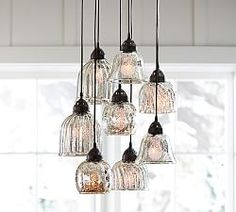 Shop kenzie mercury chandelier from Pottery Barn. Our furniture, home decor and accessories collections feature kenzie mercury chandelier in quality materials and classic styles. Kitchen Table Lighting Fixtures, Kitchen Island Lighting, Dining Room Lighting, Home Lighting, Light Fixtures, Lighting Ideas, Lighting Sale, Outdoor Lighting, Foyer Chandelier