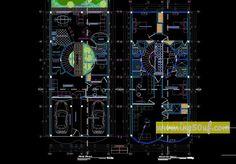 منزل حديث من طابقين مع قبة مخططات أوتوكاد dwg * منزل حديث مع قبة على مستويين من التصميم المعماري ذي الأبعاد ، تعمل القبة كمنور وتتصل إلى المستوى الثاني ، والمستوى الأول من السكن هو المنطقة الاجتماعية. * في المستوى الثاني توجد غرف النوم وغرفة العائلة ، بما في ذلك غرفة الدراسة ، ويضم السكن في المجموع أربع غرف ، تقع جميعها في المستوى الثاني. تحميل عل مديا فاير .المصدر : خرشات مهندس | www.ing50uf.com | أرجو عدم النقل من دون ذكر المصدر !
