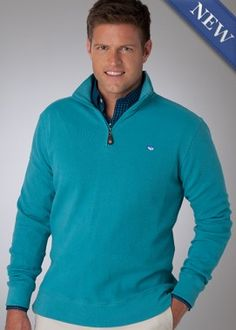 Southern Tide Pullover in Deep Surf