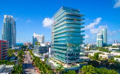 The lavish Glass condo places its owners within the sophisticated urban vibe of the South of Fifth neighborhood and its sparling beaches.