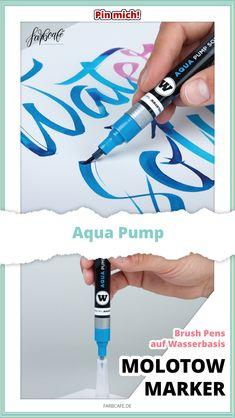Molotow Marker Aqua Pump Molotow Marker, Graffiti, Markers, Blog, Aqua, Typography, Pumps, Letters, Personalized Items