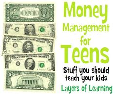 Money Management For Teens - Layers of Learning Personal Finance tips