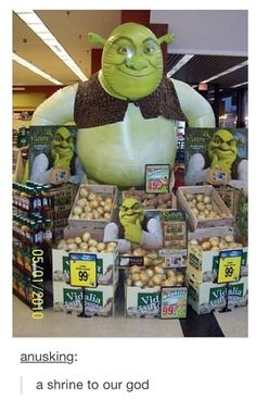 Well, ogres ARE like onions...