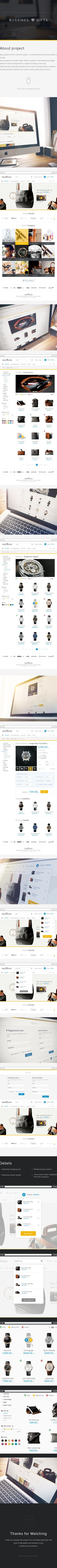 "E-Site ""Business Gifts"" Web Design on Behance"